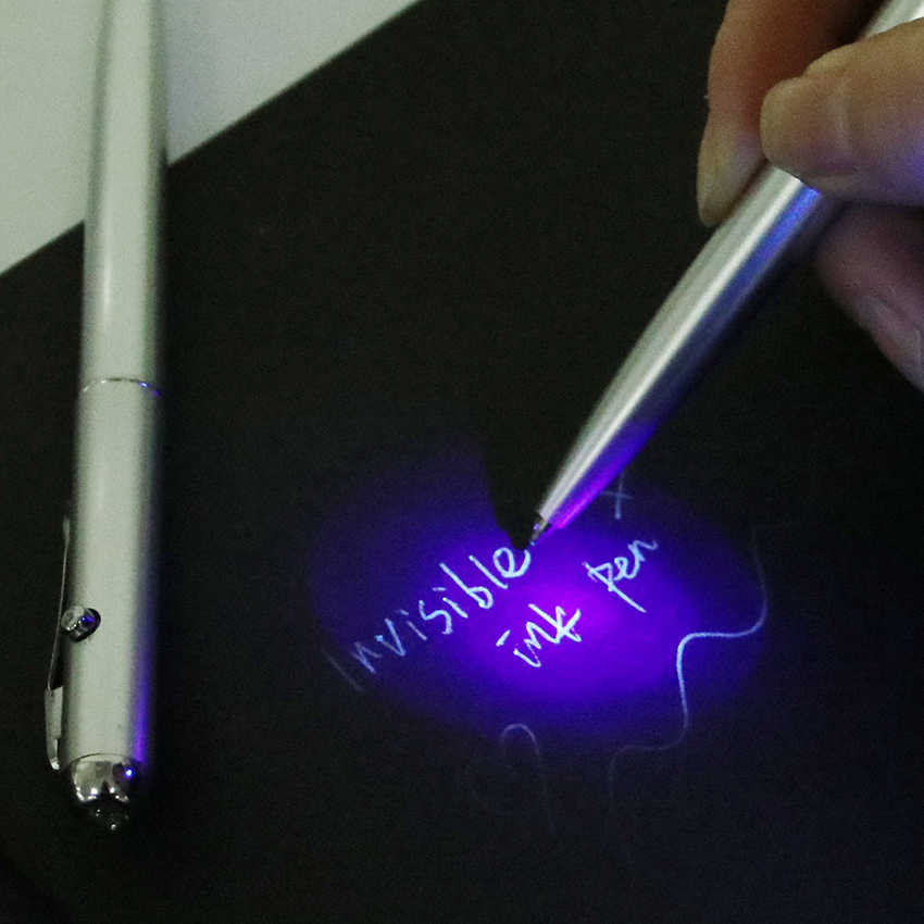 1 шт. офисные принадлежности пластиковые материалы Escolar школьные принадлежности ручка с невидимыми чернилами и УФ-лампой волшебство секрет шариковые ручки