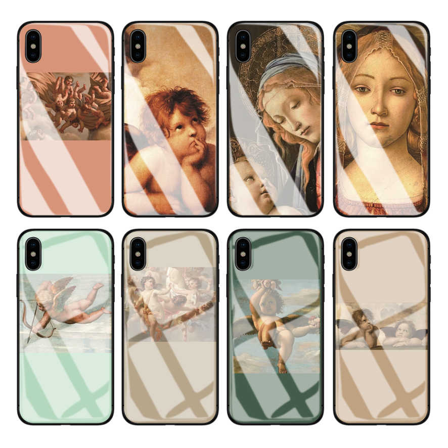 OUTMIX Renaissance angels โทรศัพท์สำหรับ iPhone 10 XS max XR 6S 6 7 8 Plus กรณี Hard shield