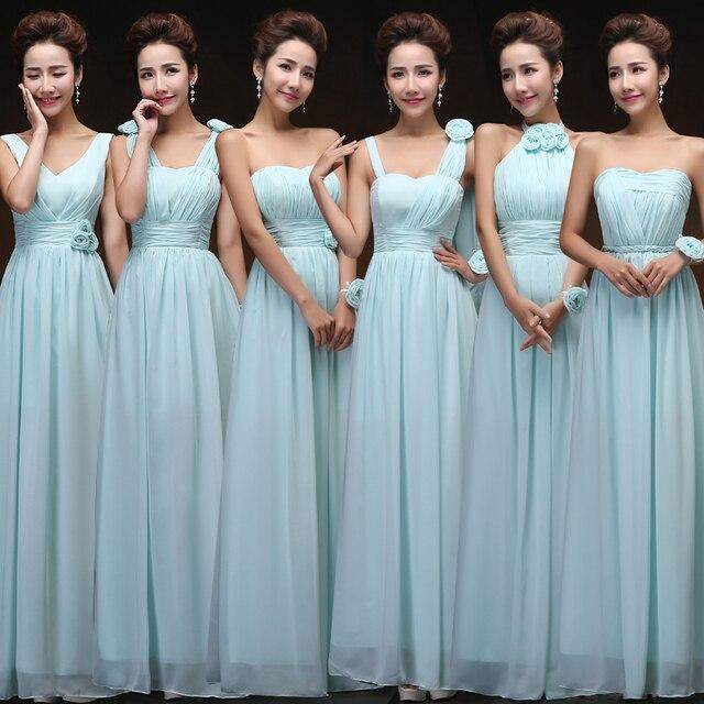 Lcm12 Light Purple Pink Blue Bridesmaid Dress Long Sweet Chiffon Blush Under