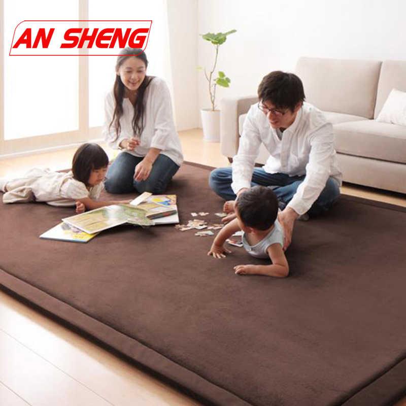 Новинка 2 см толстые детские игровые коврики коралловый флис одеяло ковер для детей Детские ползающие Татами Коврики подушки матрас для спальни