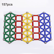 DIY Magnetic Blocks Toys Magnet Bars Metal ball Magnetic Design Construction Toys Educational Toys for Children Gifts(China)