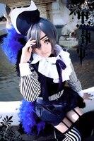 Anime Black Butler Kuroshitsuji Cosplay Ciel Phantomhive Circus Costume Whole Set