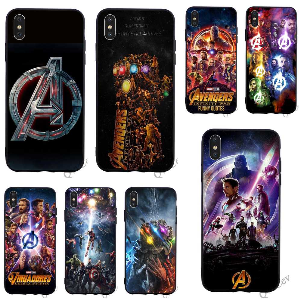 Shockproof Avengers Infinity War Phone Cover for iPhone 7 Case XS Max XR X 8 Plus 6 6S 5S 5 SE Cases Skin