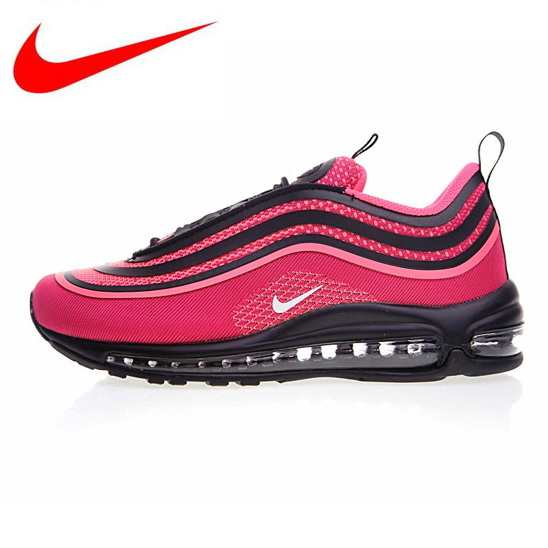 3a3d9f3db865 Original New Arrival Nike AIR MAX 97 UL 17 Blick and Pink Running Shoes