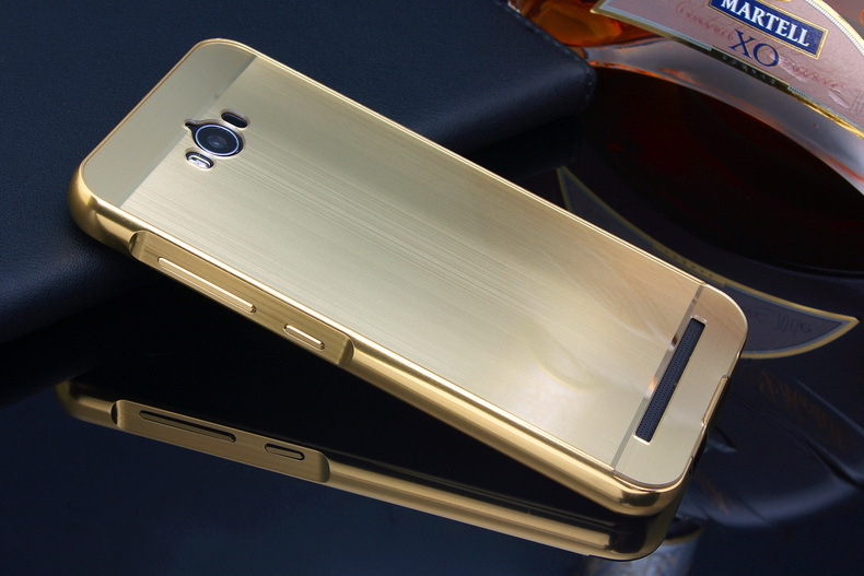 New Brushed Mirror Back Cover Plating Aluminum Metal Frame Set Hot Phone Bag Cases For Asus