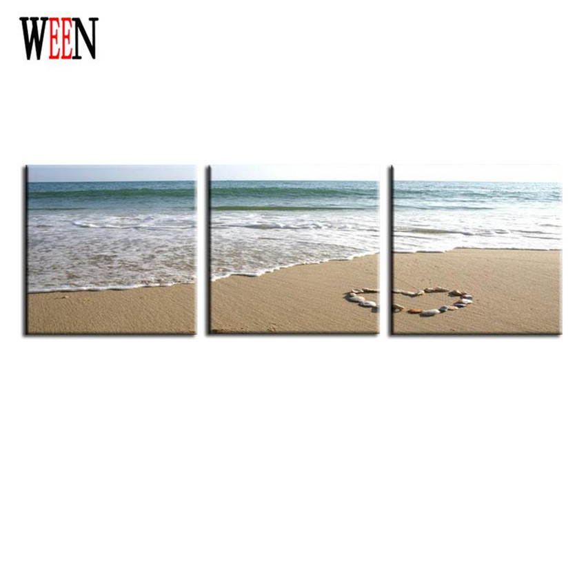 3 Pieces Landscape Modern Beach Wall Painting Wave Paintings Home Decorative Art Picture Paint Prints On Canvas Christmas Gift