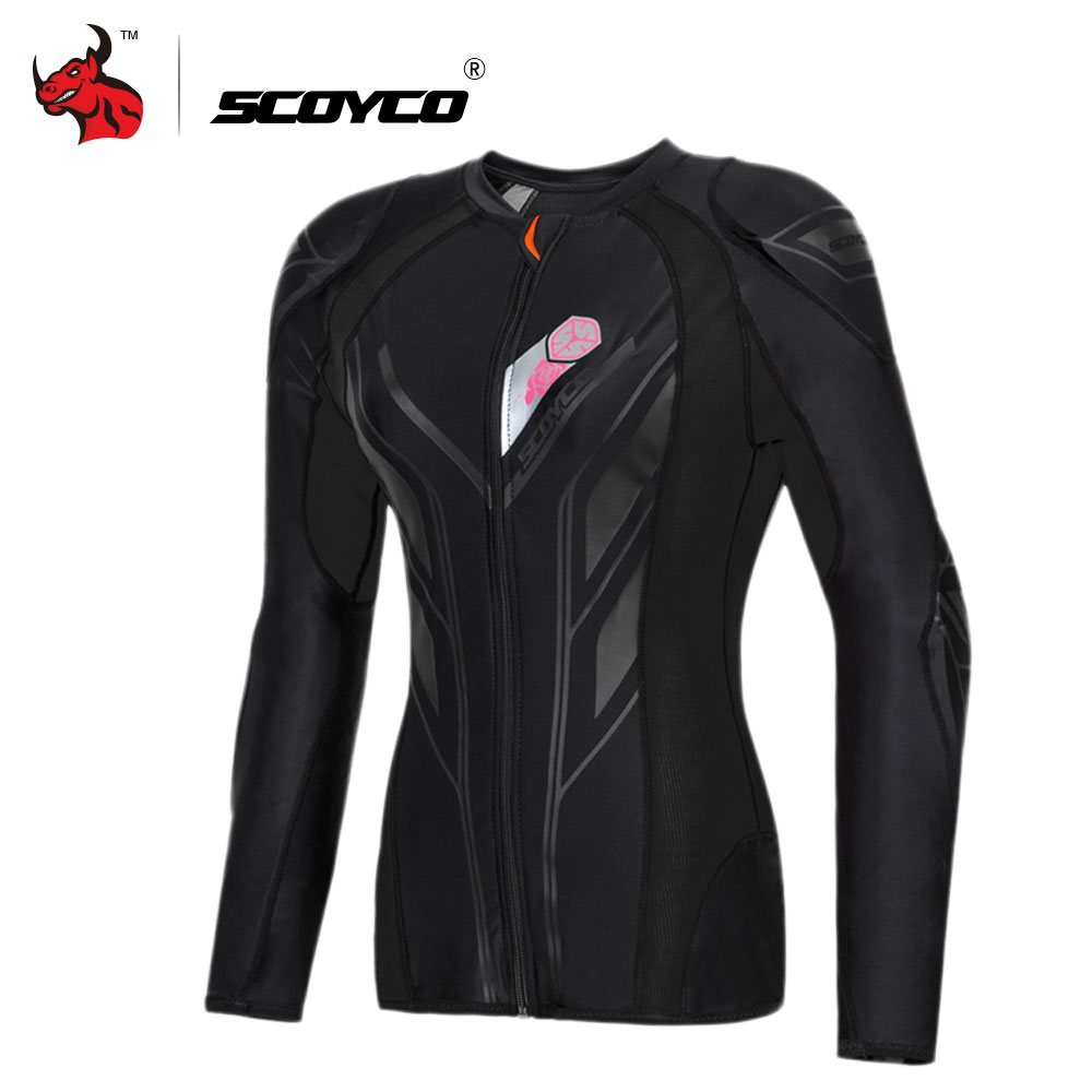 SCOYCO veste de Moto femmes Motocross Protection équipement de Protection Motocross armure de course armure de corps Moto veste Moto armure
