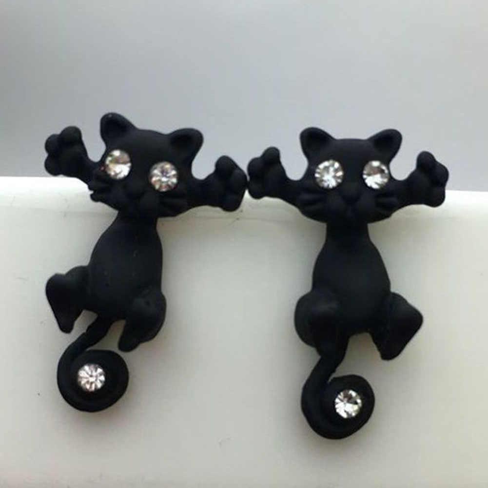 1 PC 2016 Baru Kedatangan 3D imitasi pearl Kitty Kucing lucu Stud Earrings set untuk Wanita Gadis 9 warna Gratis pengiriman