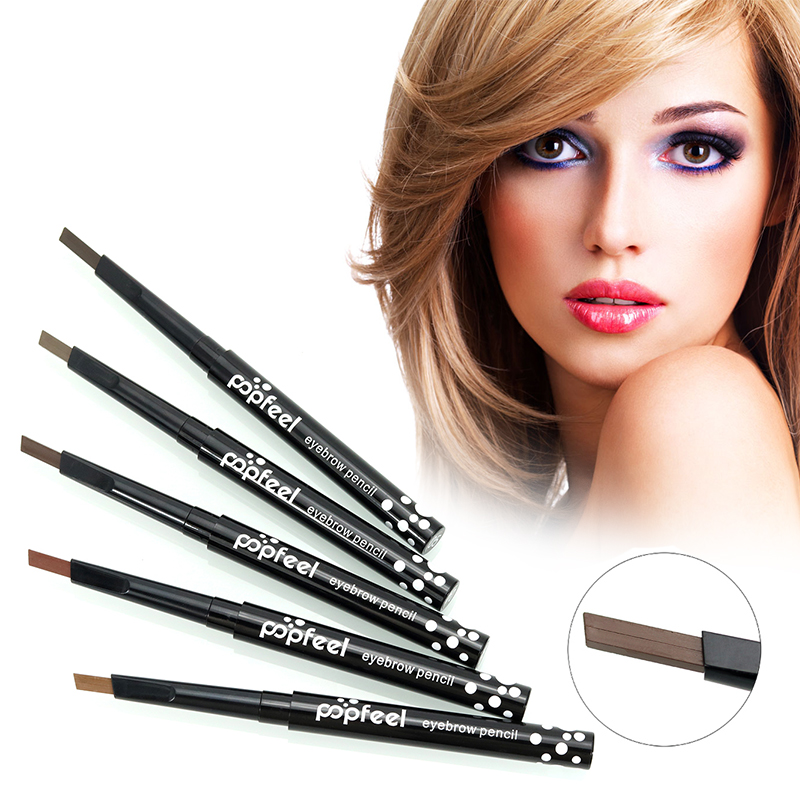 Beauty Eyebrow Pencil Waterproof Smooth Automatic Pencil Powder Shapper Makeup Tool with Eye Brows Brush