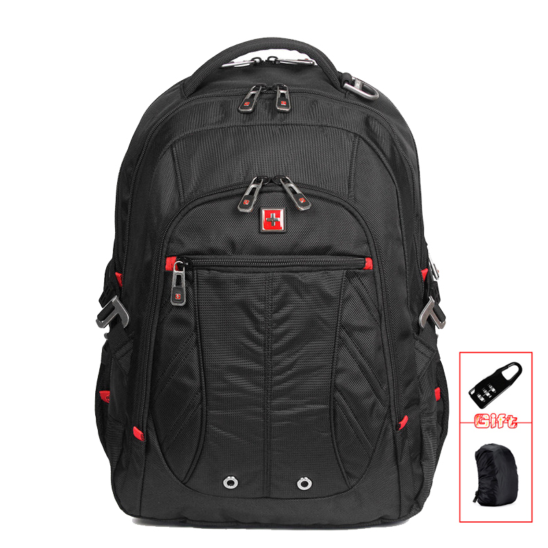 SWISSWIN Men Backpacks Waterproof Nylon Computer Laptop Backpack School Backpacks Large Capacity Students Travel Bags SW8110I