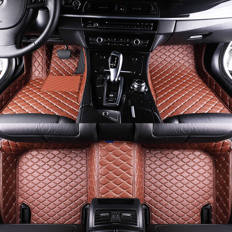 Car Floor Mats For Toyota RAV4 CA30 Custom Fit Most Car Model Waterproof Artificial Leather Carpet Mats Protect Interior Car Mat 3d trunk mat for peugeot 508 waterproof car protector carpet auto floor mats keep clean interior accessories