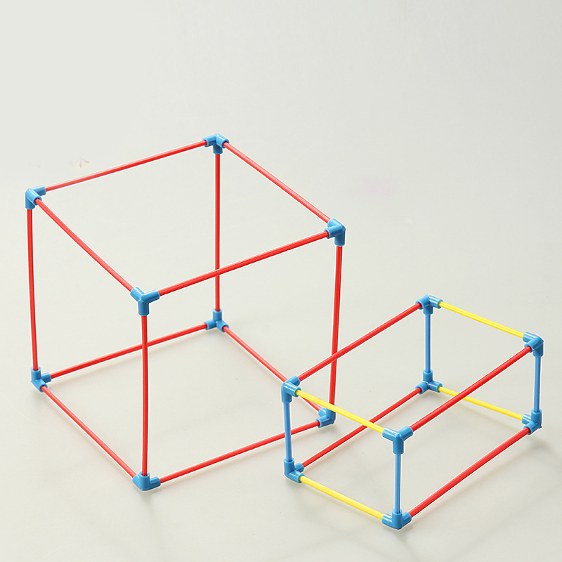1Set DIY Math Materials Tool Cuboid Cube Shape Frame Model Teaching Aids Kids Learning Education Toys School Teachers Supplies