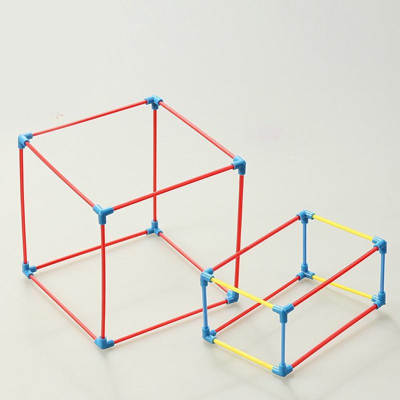 1Set DIY Math Materials Tool Cuboid Cube Shape Frame Model Teaching Aids Kids Learning Education Toys School Teachers Supplies