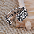 Open Size S925 Solid Silver Skull Skeleton Rings for Women Jewelry 100% Real 925 Sterling Silver Ring HYR19