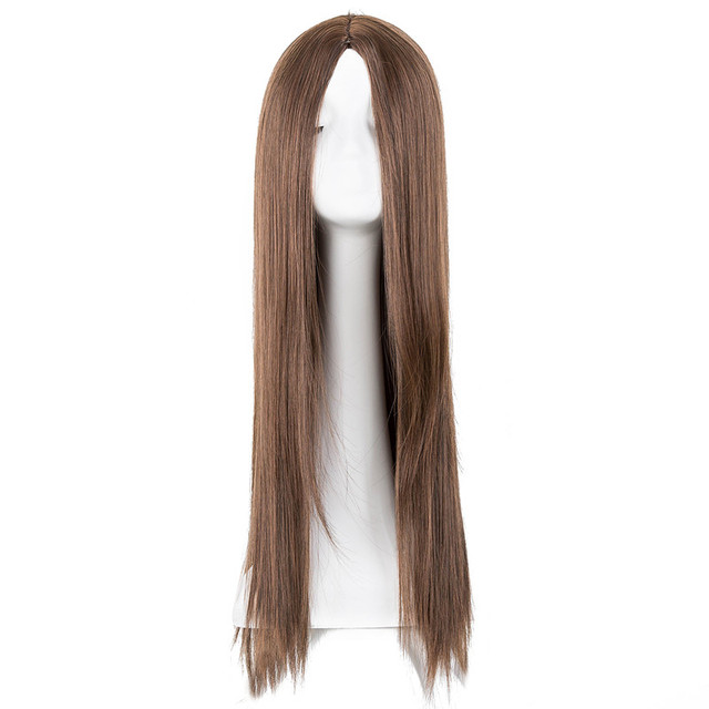 Fei-Mostrar Resistente Ao Calor Fibra Sintética Cabelo liso Oriente Parte Traje Cos-play Partido Do Carnaval de Halloween Mulheres Longas peruca