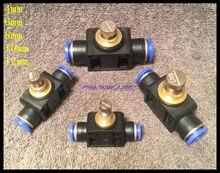 2Pcs/Lot  12mm Push In Speed Controller Pneumatic Air Valves