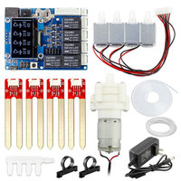 Elecrow New Version Automatic Smart Plant Watering Kit for Arduino Electronic DIY Water Pump Kit Soil Moisture Sensor Module Kit