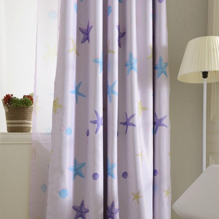 coreano dos desenhos animados vento oceano cortina sombra cortina cortinas de tecido crianas meninos meninas crianas