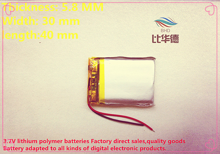 freies Verschiffen Polymer Lithium-ionen Batterie 3,7 V 750 Mah 583040 Kann Angepasst Werden Großhandel Ce Fcc Rohs Msds Qualität Zertifizierung Humorvoll