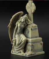 Szef Arts Crafts jelenie głowy Żywicy zestaw tajemniczy serii cmentarz rzeźba anioła życie corolla i biblia artykuł główna decoratio