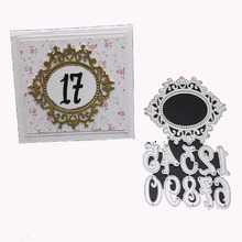 FeLicearts Number metal cutting dies frame stamps and for scrapbooking card making decorative photo paper crafting die