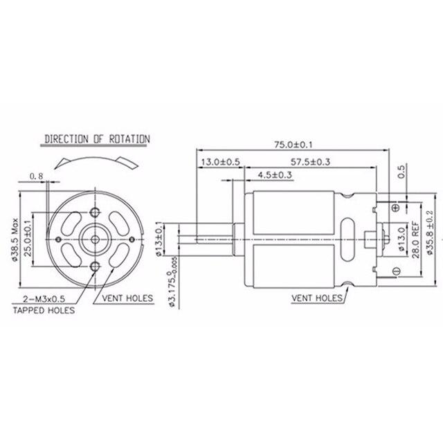 RS550 Motor (15 ZÄHNE GETRIEBE) 20000RPM 7,2 V/9,6 V 10,8 V/12V/14V/14,4 v/16,8 V/18V/21V/24V/25V FÜR BOSCH MAKITA HITACHI AKKU-BOHRSCHRAUBER