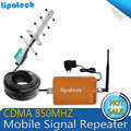 HOT Sale !Full Smart CDMA 850mhz 3G Repeater Cell Phone Mobile Signal repetidor de celular Amplifier / Booster with antenna