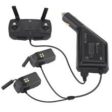 Автомобильное зарядное устройство для DJI Spark батарея и пульт дистанционного управления зарядный концентратор автомобильный разъем USB адаптер для Spark DJI Drone зарядное устройство