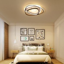 Modern LED Chandelier Triangle Brown Frame modern chandelier Bedroom Livingroom Diningroom Nordic lighting room light