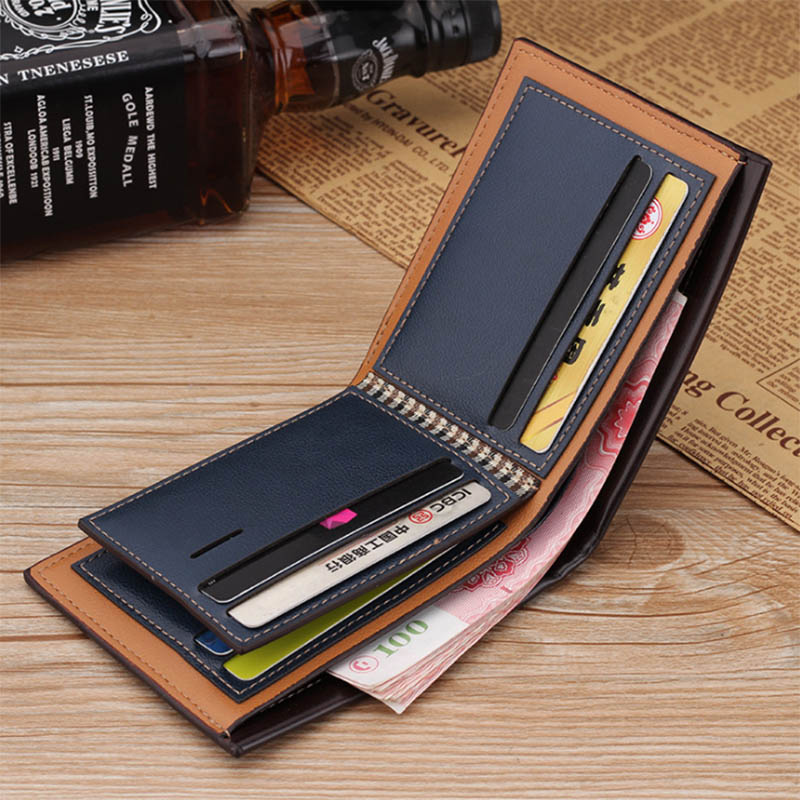 PU Leather Men Wallet Money Bag Credit Card Holders Dollar Bill Wallet Clutch Purse For Boy Use Vintage Purses Wallets Men Walet (9)
