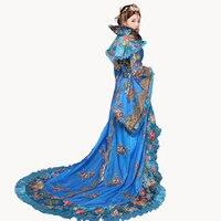 Новые дизайнерские Новый Для женщин Благородный замарашка платье королева династии Тан одежда принцессы древней китайской выполнять Costums