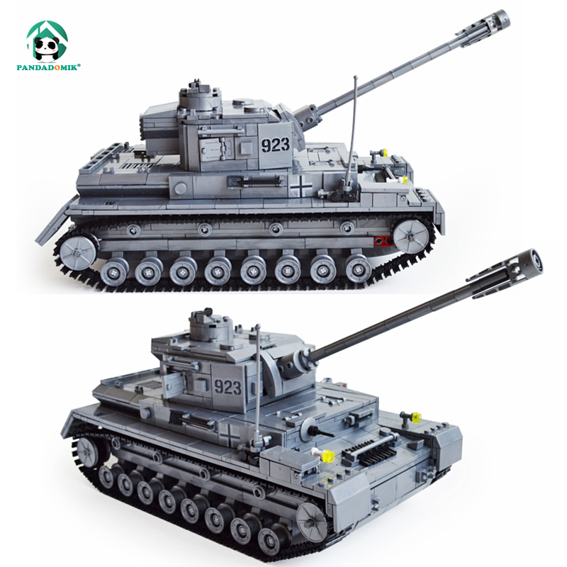 Large Panzer IV Tank 1193pc Building Blocks Military Army Toys for Boys Designer Toy Bricks Constructor Set Technic Construction hm136 57pcs large particle building