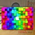 "3d diamante colorido laptop vinyl decal adesivo para apple macbook air pro retina 11 ""12"" 13 ""15"" Notebook Capa Completa Adesivo de Pele"