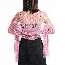 Элегантный женский кружевной шарф, свадебная кружевная шаль, накидка для подружки невесты, женская вечерняя шаль, s вечерние шаль, s хиджаб, шаль