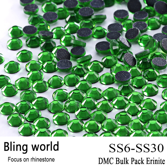 A Tomada de Artesanato DMC Hotfix Qualidade Superior De Vidro Redonda Tamanho SS6 SS10 SS16 SS20 SS30 Erinite Strass Embelezamento