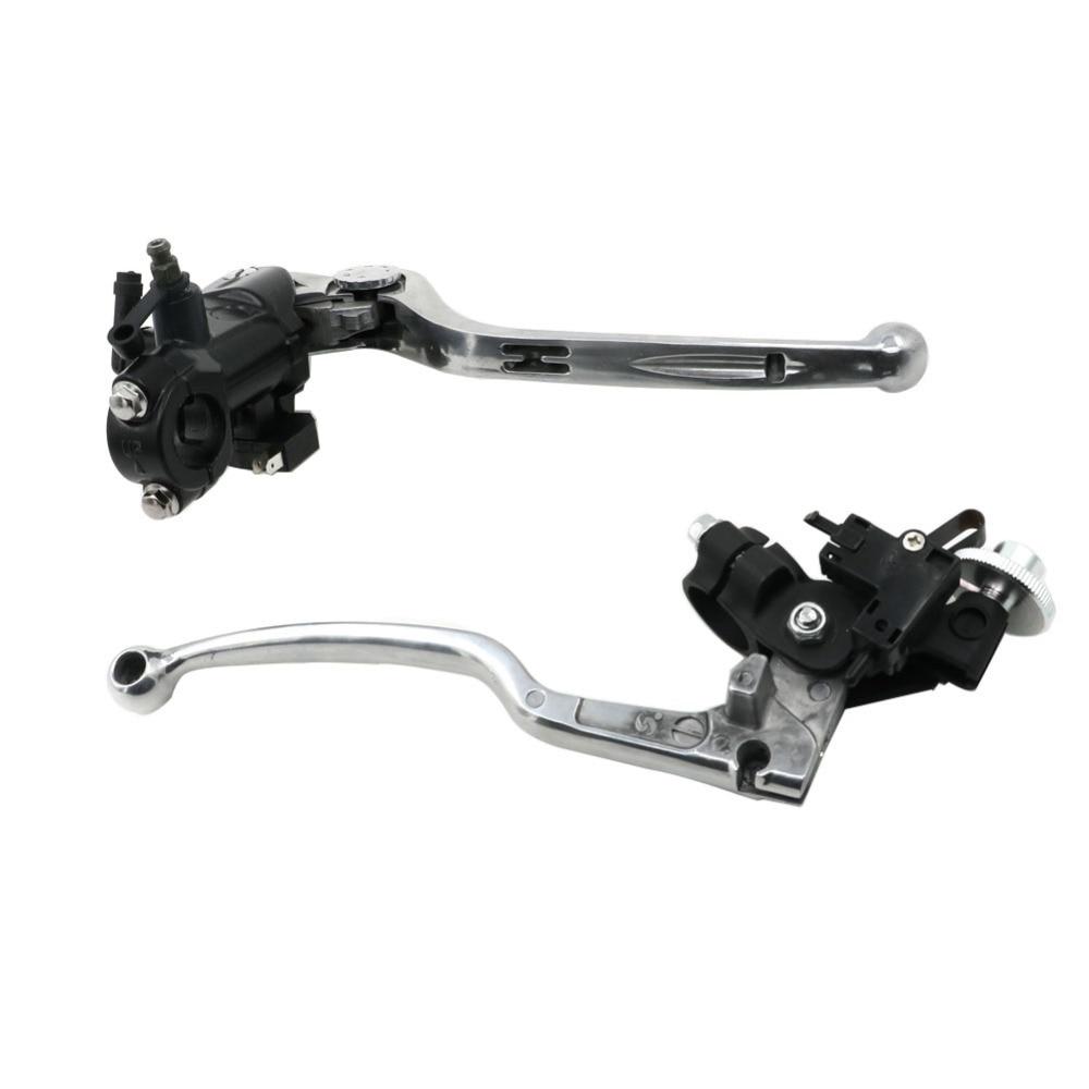 GSXR 600 750 1000 7/8 Brake Pump Clutch Levers Master Cylinder Reservoir For Suzuki GSX-R600 GSXR750 2004-2014 GSX-R1000 06-14 alu new folding billet adjustable brake clutch levers for suzuki gsxr 600 750 1000 gsxr600 gsxr750 gsxr1000 09 10 11 12 13 14 15