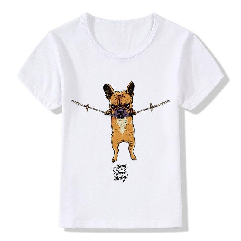 2018 Kinder Hängen In Es Baby Druck T-shirts Sommer Jungen Und Mädchen Kleidung Kinder Französisch Bulldog/mops Tops Tees Shirts, Hkp2075