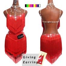 Лидер продаж, платья для латинских танцев для женщин, черные кружевные Клубные вечерние платья для танцовщицы, певицы, артиста, черное платье с бахромой DM1034