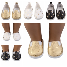 New Doll Shoes For 18 Inch United Stated Girl Doll Suit 45cm Reborn Doll Accessories Star Pattern Shoes 7cm for 1/3 BJD Shoes цена и фото