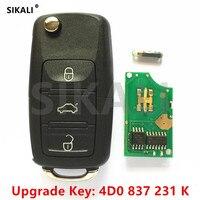 Sikali coche clave remoto actualización para Audi 4D0837231K 4D0 837 231 K 433.92 MHz para Audi A6 S6 RS6 A8 TT 1996-2006