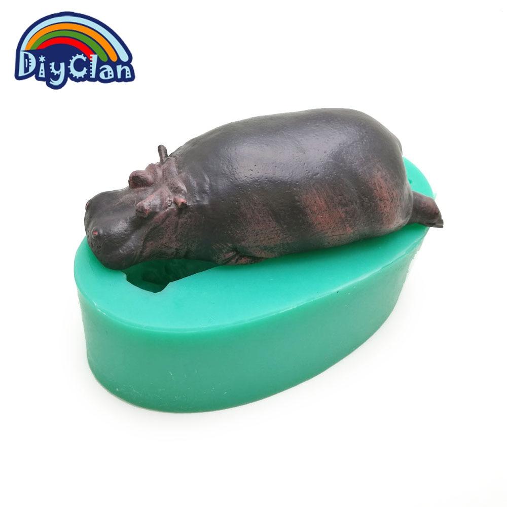 Aliexpress.com : Buy New arrival Hippo DIY silicone fondant cake ...