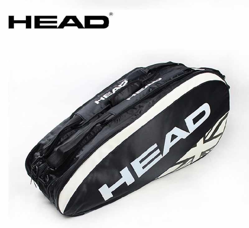 Original Head Tennis Bag Brand Tennis Racquet Bag 3-6 Piece Rackets Tennis Bag Nylon Dacron Tennis Racket Racquet Backpack Brand