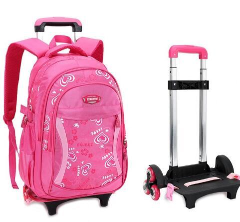 Image 3 - Kids Travel Rolling luggage Bag School Trolley Backpack girls  backpack On wheels Girls Trolley School wheeled Backpacks Childschool  trolley backpacktrolley backpackbackpack on wheels