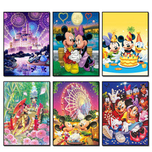 Mickey Mouse 20x25cm New Full Area Highlight Diamond Needlework Diy Painting Kit 3D Cross Stitch Embroidery