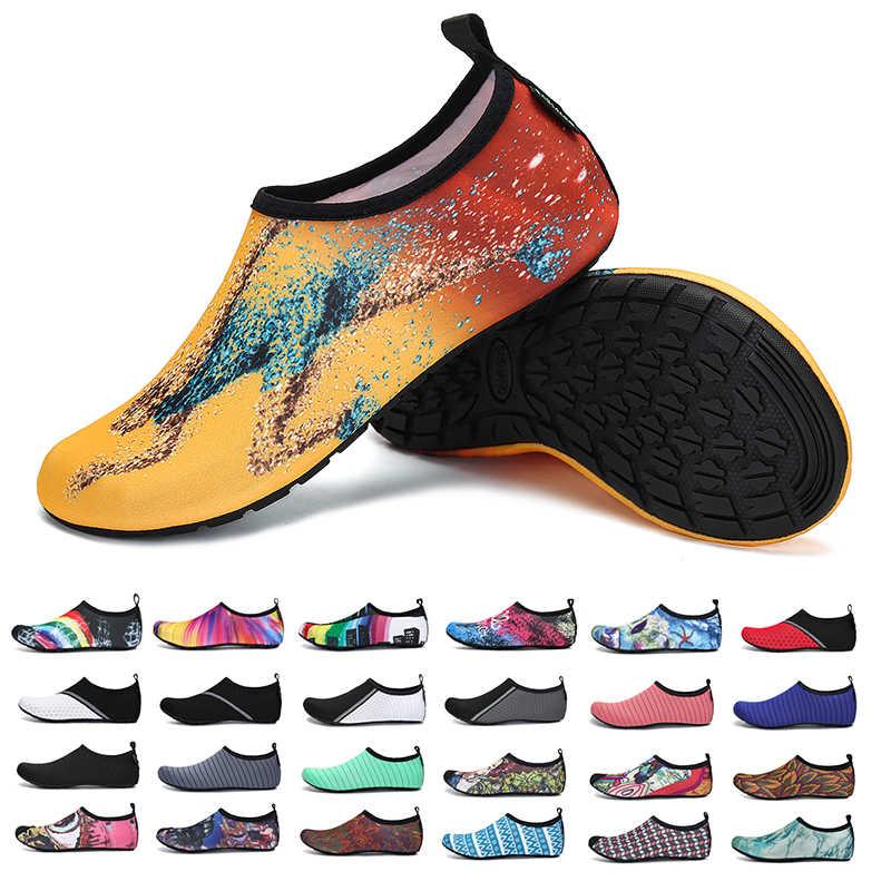 بيرفوت أحذية الرجال الصيف أحذية ماء السباحة امرأة جوارب الغوص عدم الانزلاق أكوا أحذية نعال شاطئ اللياقة البدنية أحذية رياضية 23 ألوان