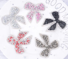 Free ship Hotfix Rhinestone motifs butterfly mesh 15pcs lot iron on transfer  Applique patches for clothing shoe bags craft diy ad6d524eafd8