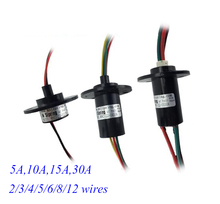 Free Shipping High Current Slip Ring 2/3/4/5/6/8/12 Wires 5/10/15/30A Diameter 22/31mm Spare Part
