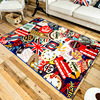160 230cm Fashion Graffiti Large Rugs For Living Room Carpet Big Area Rug Home Mat Kilim
