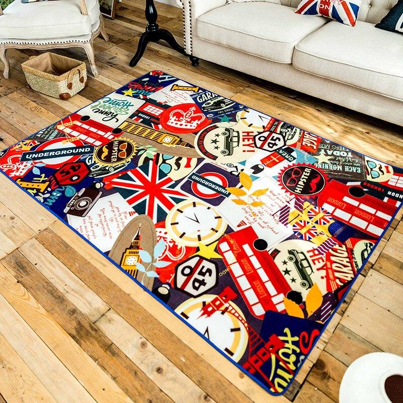 160230cm Fashion Graffiti Large Rugs For Living Room Carpet Big Area Rug Home Mat