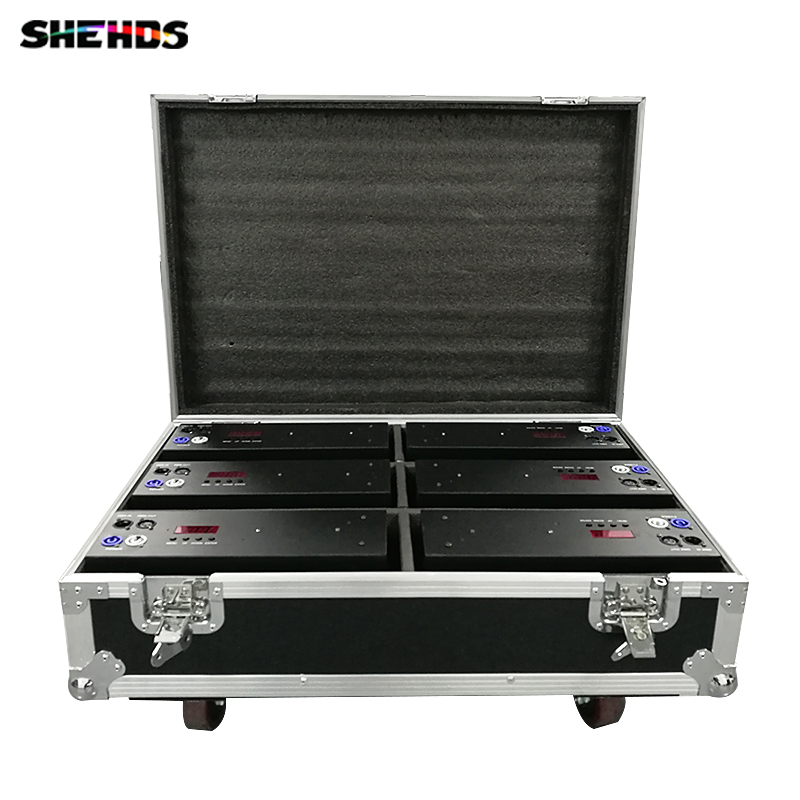 Flight Case with 2/4/6 pieces 2eyes 200W LED COB Blinder Cool White Lighting for Disco KTV Party Free Shipping,SHEHDS кейс для светового оборудования thon case for 3u lighting desks